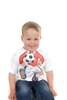 Picture of Red Footballer Just Add A Kid T-Shirt.